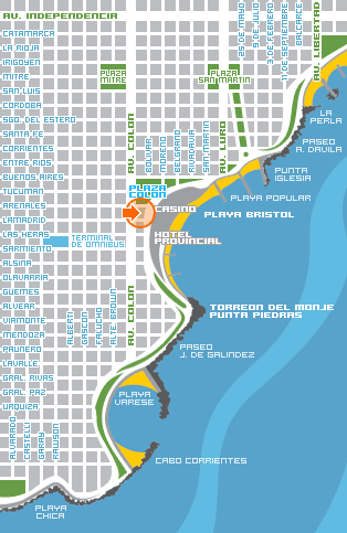 Mar del Plata Map